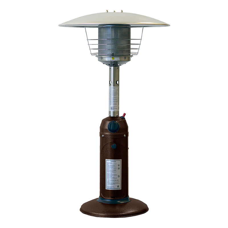Table Top Patio Heater in Hammered Bronze