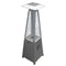 Glass Tube Table Top Patio Heater in Stainless Steel