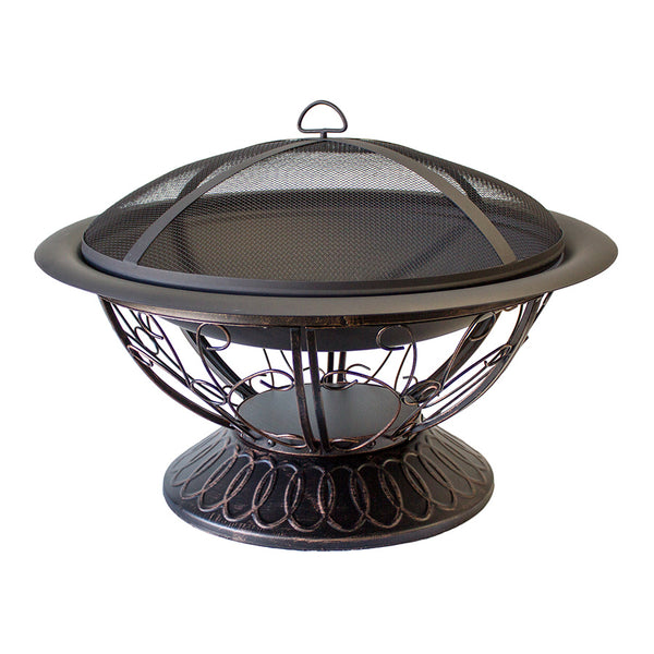 AZ Patio Heaters - Wood Burning Fire Pit with Scroll Design