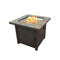 "30"" SQUARE SLATE TILE TOP FIRE PIT"