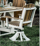 Heritage Swivel Rocker Dining Chair in Two Tone by Wildridge