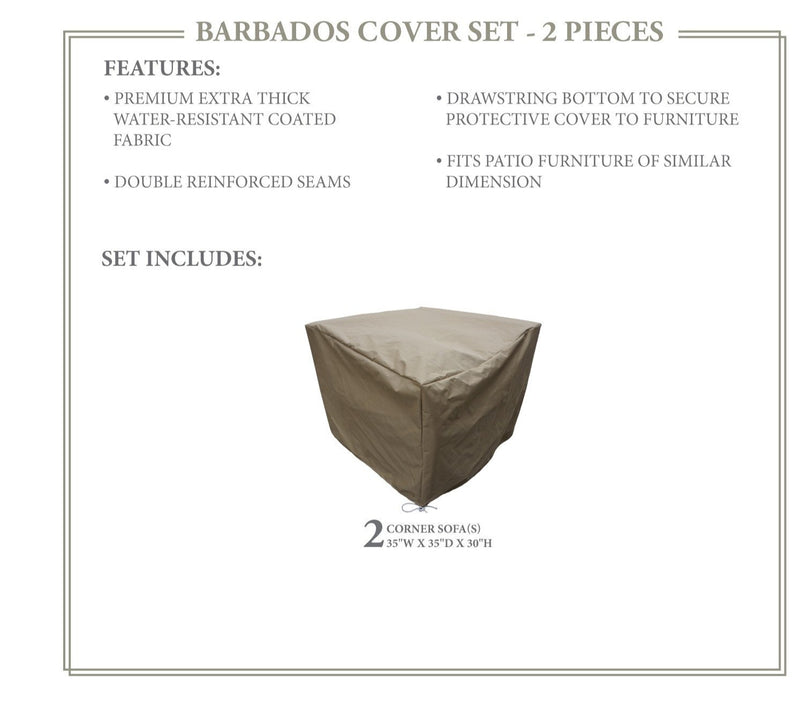 BARBADOS-02a Protective Cover Set, in Beige