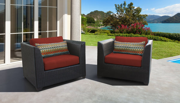 Barbados 2 Piece Outdoor Wicker Patio Furniture Set 02b