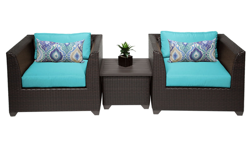 Barbados 3 Piece Outdoor Wicker Patio Furniture Set 03a