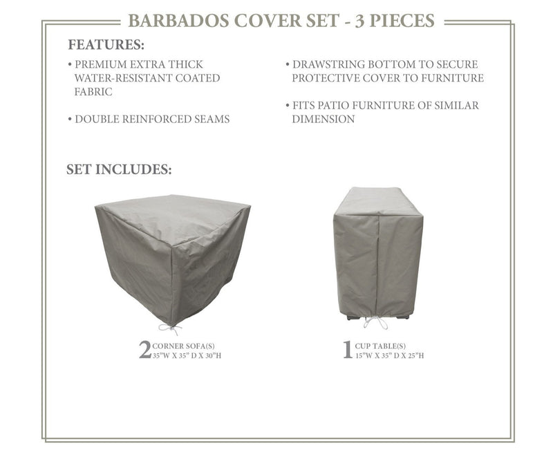 BARBADOS-03b Protective Cover Set, in Grey