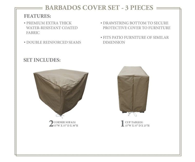 BARBADOS-03b Protective Cover Set, in Beige