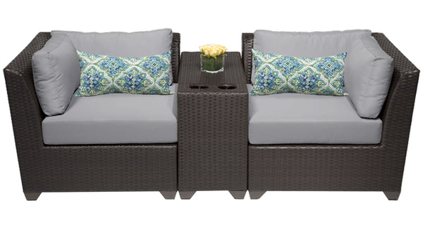 Barbados 3 Piece Outdoor Wicker Patio Furniture Set 03b