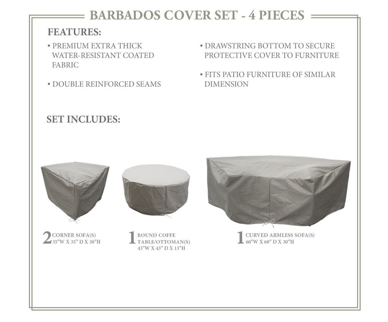 BARBADOS-04a Protective Cover Set, in Grey