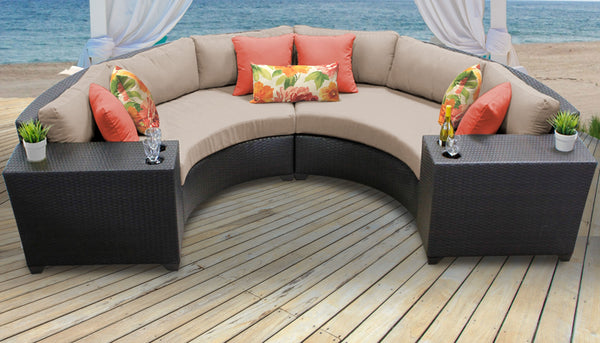 Barbados 4 Piece Outdoor Wicker Patio Furniture Set 04c