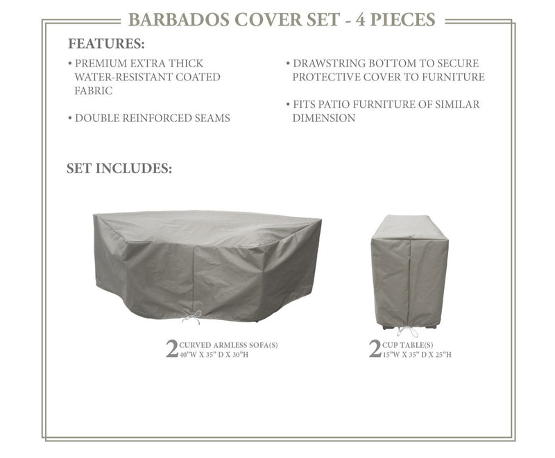 BARBADOS-04c Protective Cover Set, in Grey