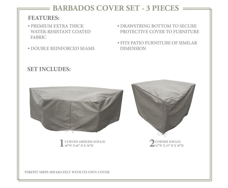 BARBADOS-04d Protective Cover Set, in Grey