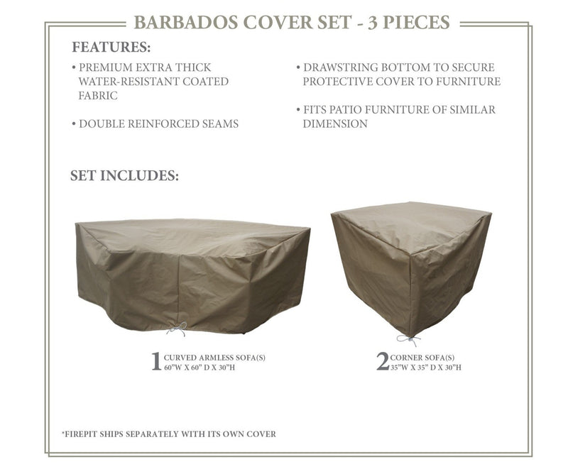 BARBADOS-04d Protective Cover Set, in Beige