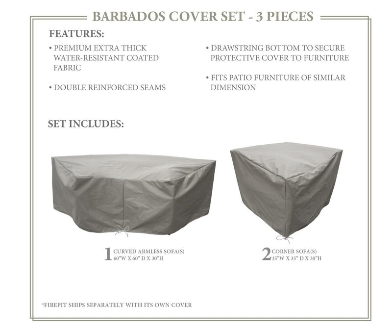 BARBADOS-04h Protective Cover Set, in Grey