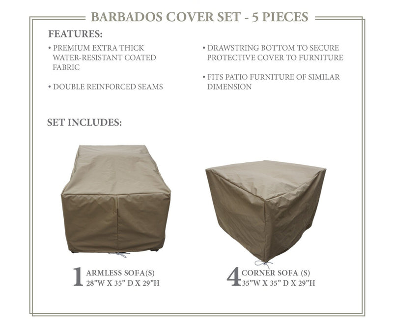 BARBADOS-05a Protective Cover Set, in Beige