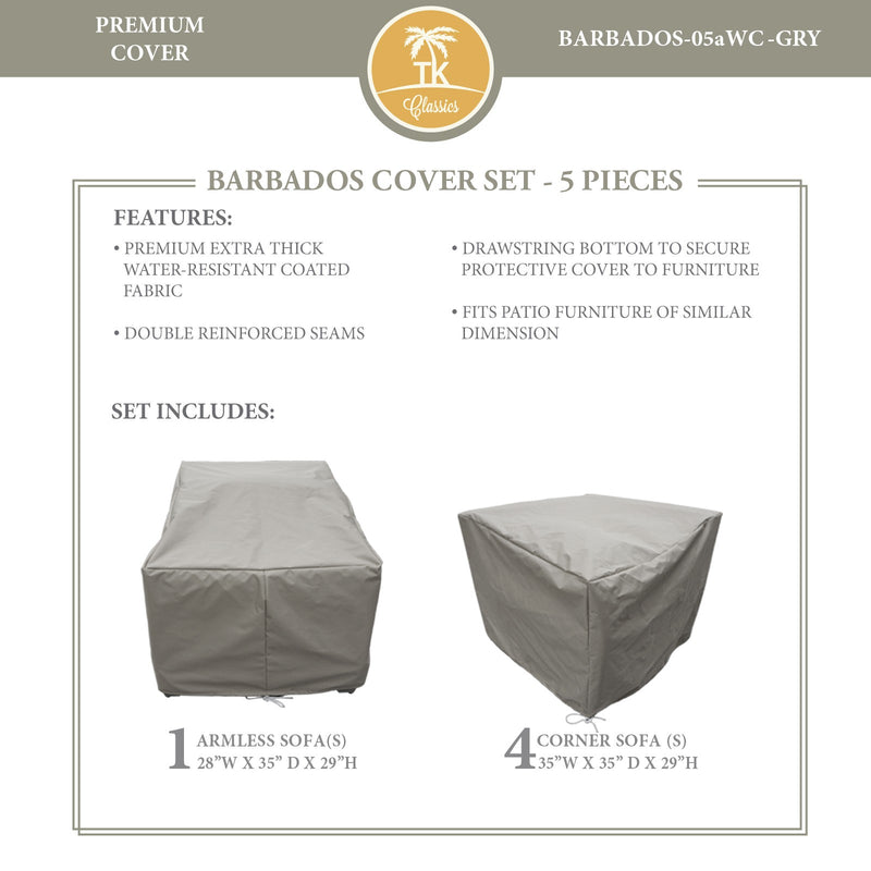 BARBADOS-05a Protective Cover Set, in Grey