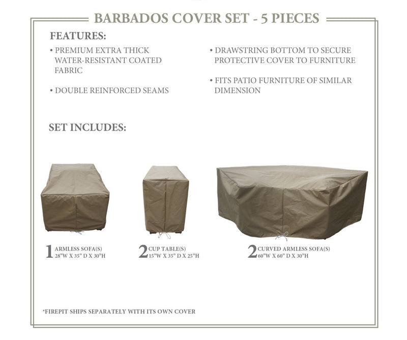 BARBADOS-06a Protective Cover Set, in Beige
