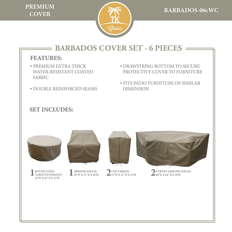 BARBADOS-06c Protective Cover Set, in Beige