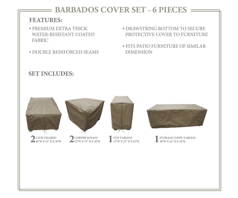 BARBADOS-06d Protective Cover Set, in Beige