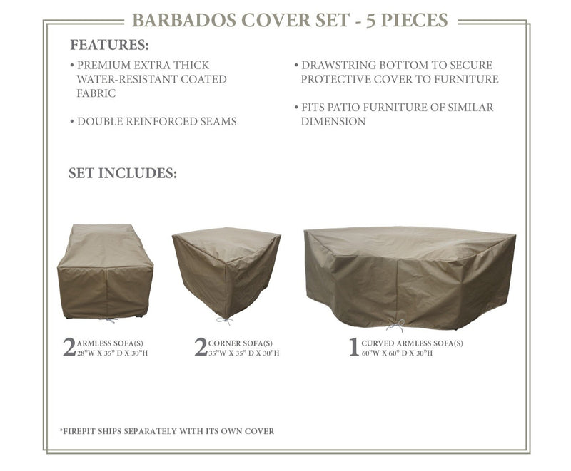 BARBADOS-06e Protective Cover Set, in Beige