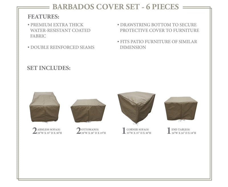 BARBADOS-06f Protective Cover Set, in Beige