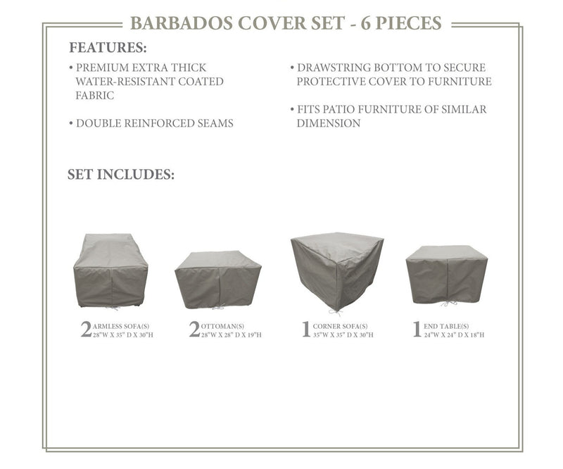 BARBADOS-06f Protective Cover Set, in Grey