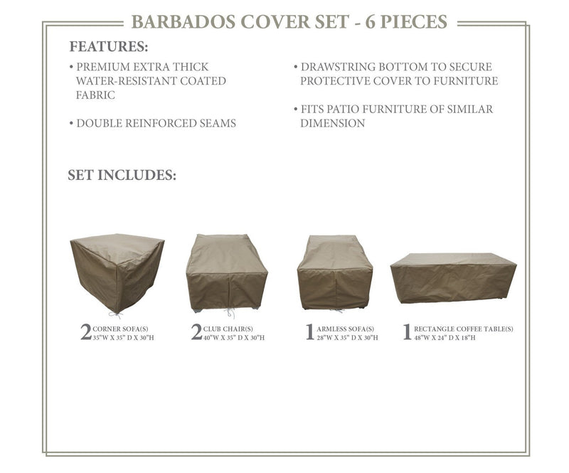 BARBADOS-06g Protective Cover Set, in Beige