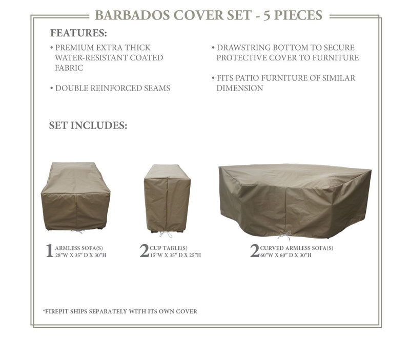 BARBADOS-06h Protective Cover Set, in Beige