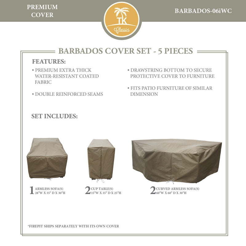 BARBADOS-06i Protective Cover Set, in Beige