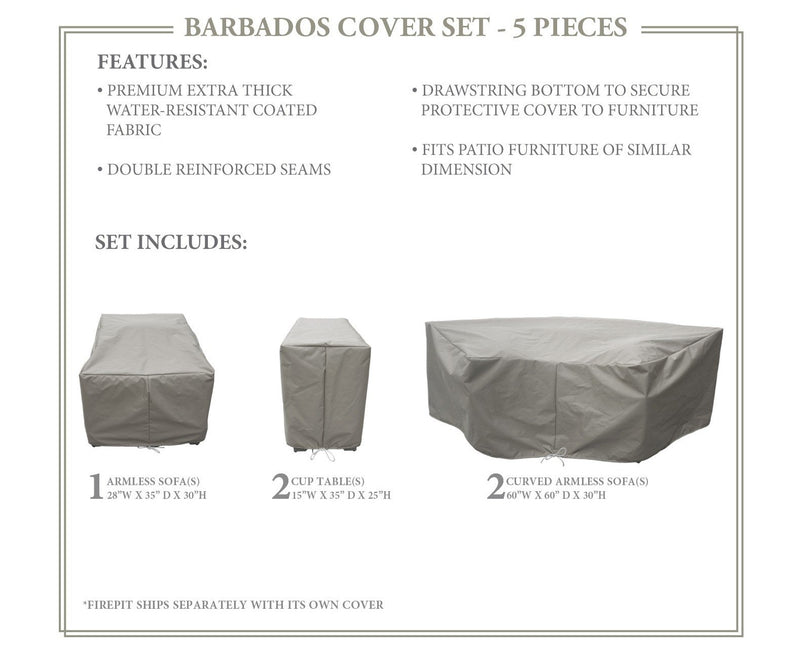 BARBADOS-06i Protective Cover Set, in Grey