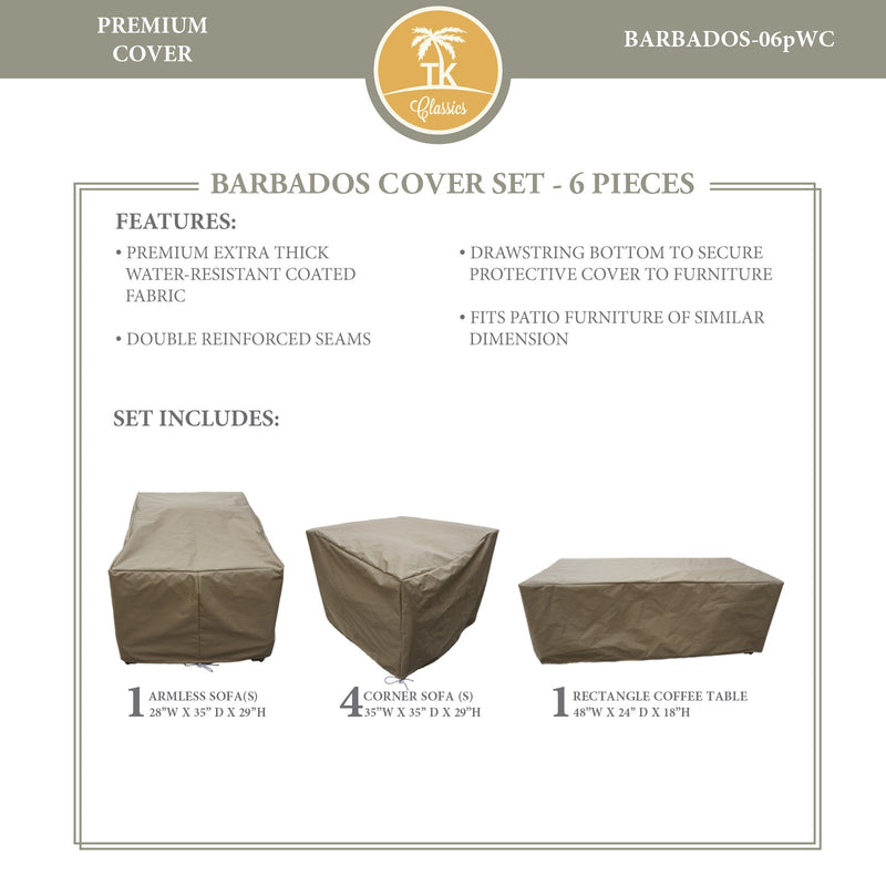 BARBADOS-06p Protective Cover Set, in Beige