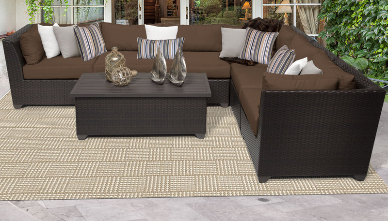 Barbados 7 Piece Outdoor Wicker Patio Furniture Set 07b