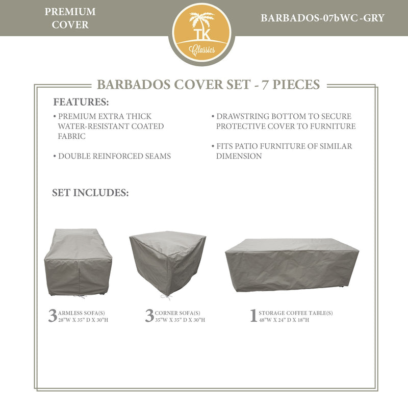 BARBADOS-07b Protective Cover Set, in Grey