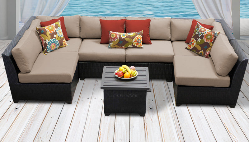 Barbados 7 Piece Outdoor Wicker Patio Furniture Set 07c