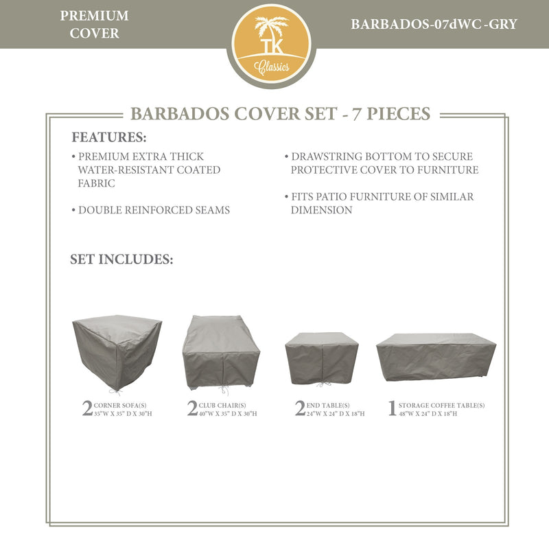 BARBADOS-07d Protective Cover Set, in Grey
