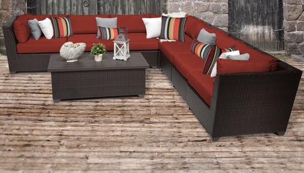 Barbados 8 Piece Outdoor Wicker Patio Furniture Set 08a