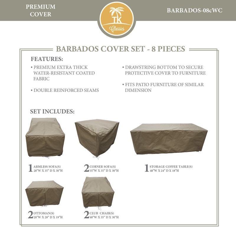 BARBADOS-08c Protective Cover Set, in Beige