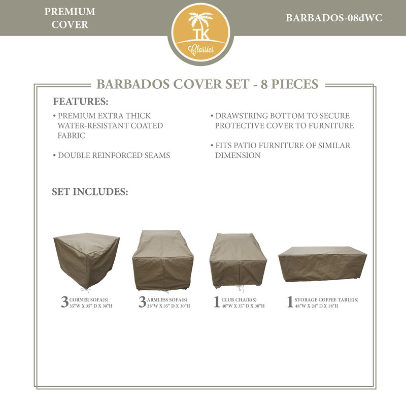 BARBADOS-08d Protective Cover Set, in Beige