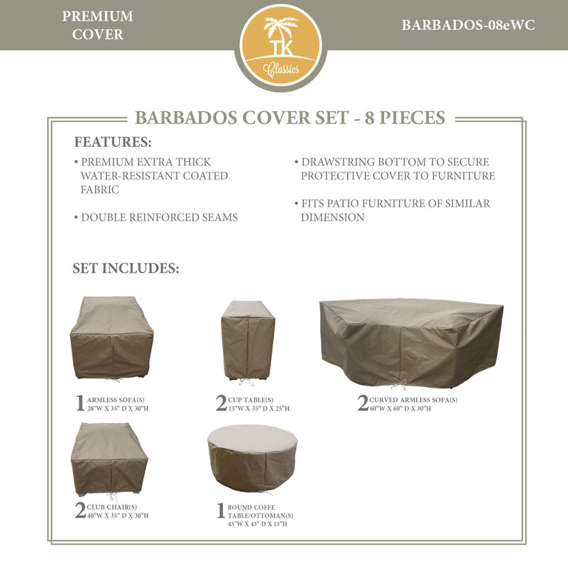 BARBADOS-08e Protective Cover Set, in Beige