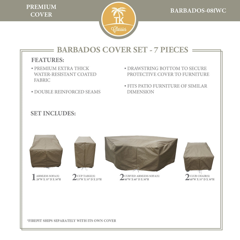 BARBADOS-08f Protective Cover Set, in Beige