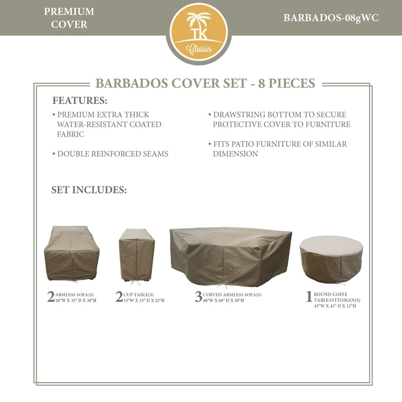 BARBADOS-08g Protective Cover Set, in Beige