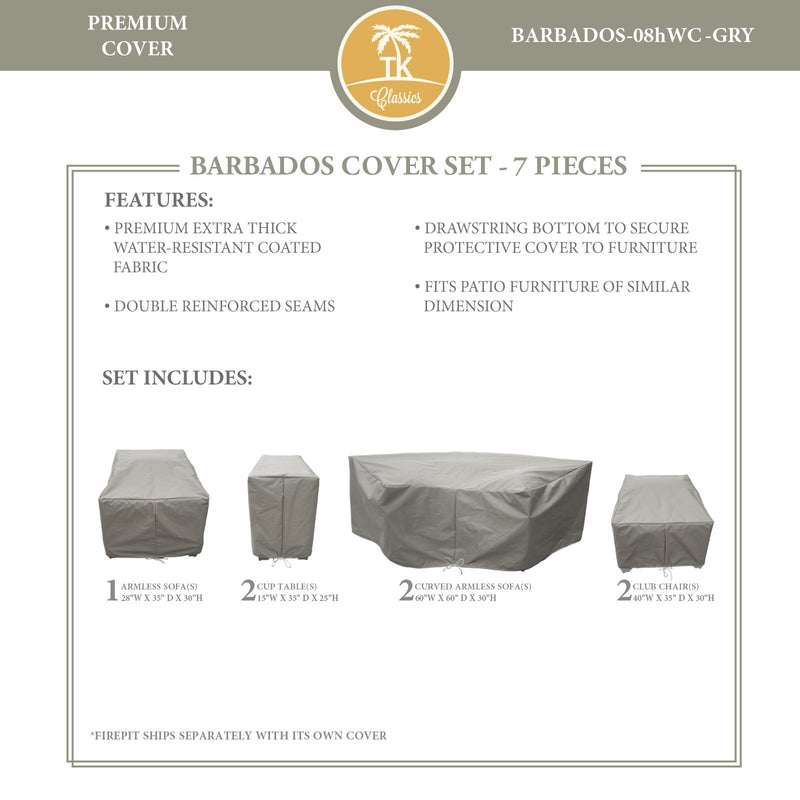 BARBADOS-08h Protective Cover Set, in Grey