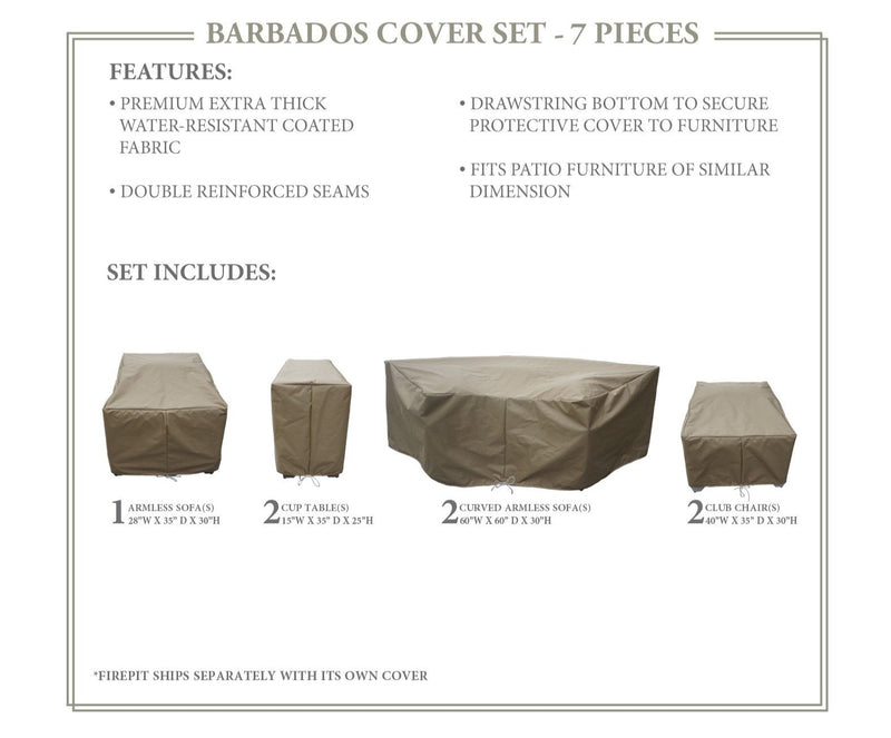 BARBADOS-08k Protective Cover Set, in Beige