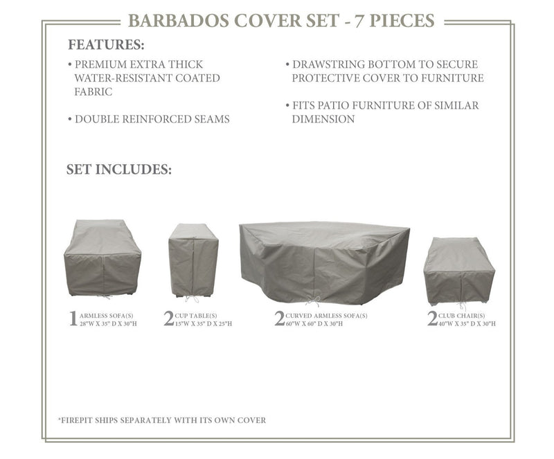 BARBADOS-08k Protective Cover Set, in Grey