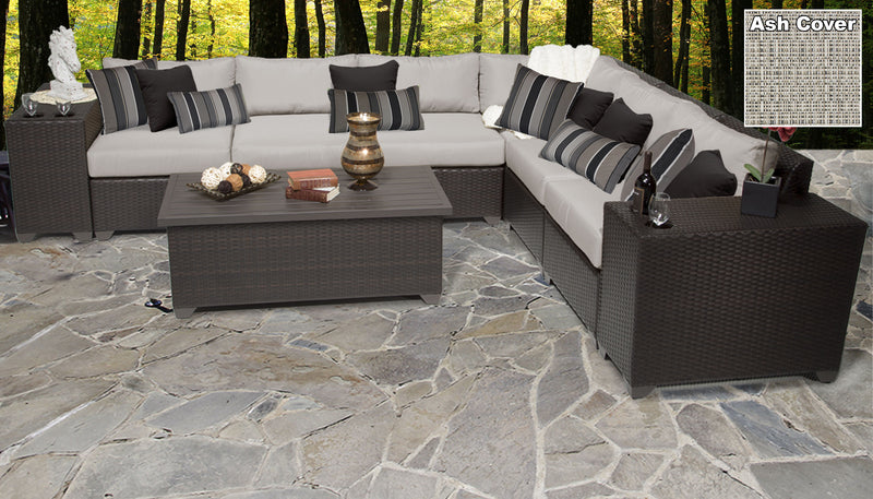 Barbados 9 Piece Outdoor Wicker Patio Furniture Set 09b