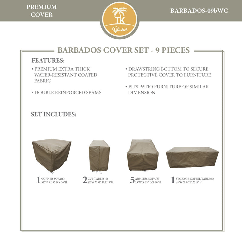 BARBADOS-09b Protective Cover Set, in Beige