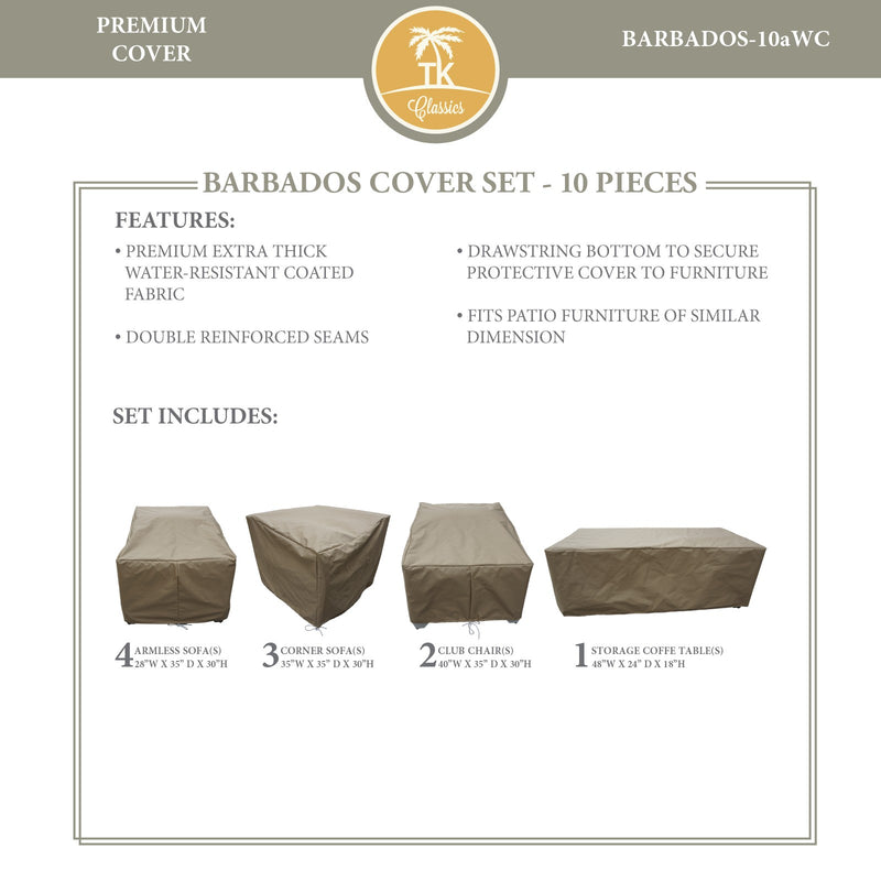BARBADOS-10a Protective Cover Set, in Beige