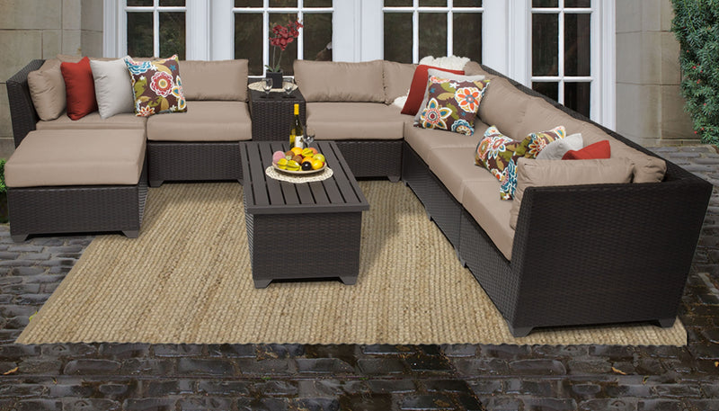 Barbados 10 Piece Outdoor Wicker Patio Furniture Set 10b
