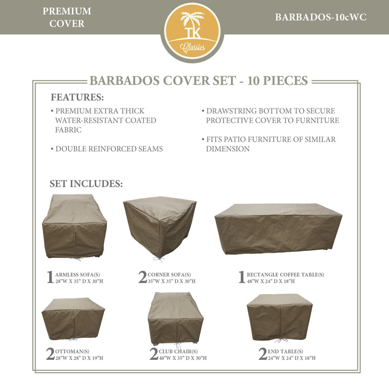 BARBADOS-10c Protective Cover Set, in Beige