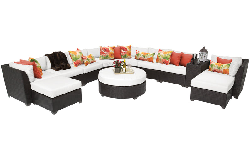 Barbados 11 Piece Outdoor Wicker Patio Furniture Set 11c