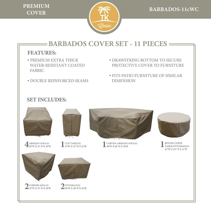 BARBADOS-11c Protective Cover Set, in Beige